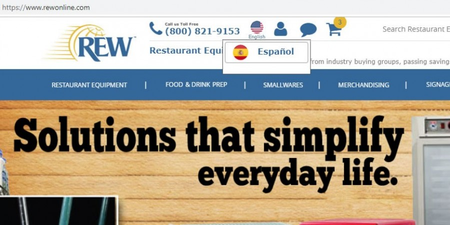 Restaurant Equipment World (REW) Launches NEW Spanish Version of Website