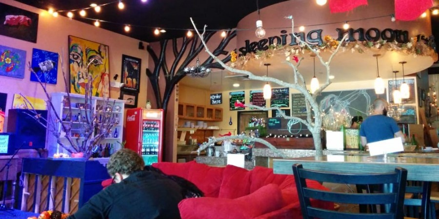 REW Visits Sleeping Moon Cafe