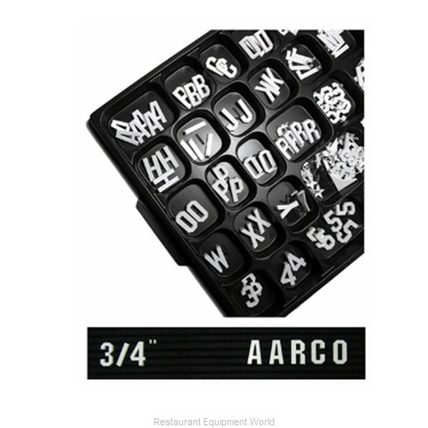 Aarco Products Inc GF.75 Letter/Number Set