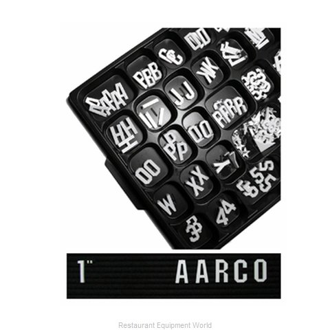 Aarco Products Inc GF1.0 Letter/Number Set
