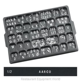 Aarco Products Inc HF.50 Letter/Number Set