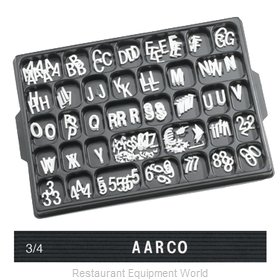 Aarco Products Inc HF.75 Letter/Number Set