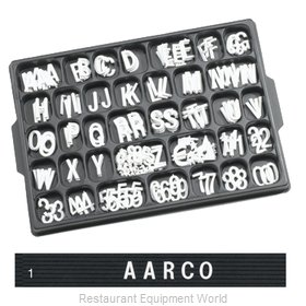 Aarco Products Inc HF1.0 Letter/Number Set