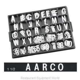 Aarco Products Inc HF1.5 Letter Number Set