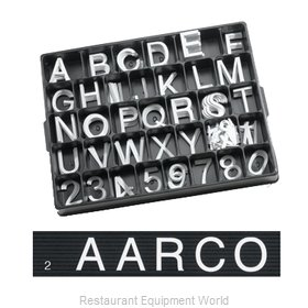Aarco Products Inc HF2.0 Letter Number Set