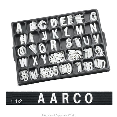 Aarco Products Inc HFD1.5 Letter Number Set