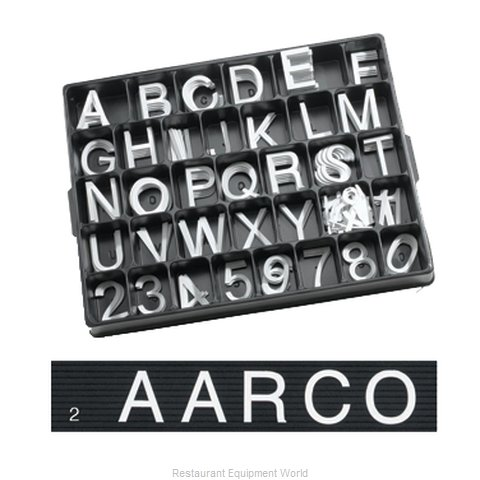 Aarco Products Inc HFD2.0 Letter Number Set