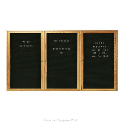 Aarco Products Inc ODC3672-3L Letter Board