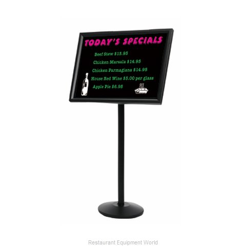 Aarco Products Inc P-7BK Sign, Freestanding