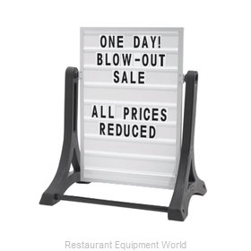 Aarco Products Inc ROC-1 Sign Board, A-Frame