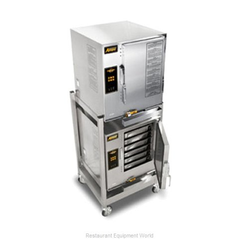 Accutemp E62083D080 DBL Steamer, Convection, Electric, Boilerless, Floor Model