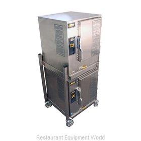 Accutemp N61201E060 DBL Steamer, Convection, Gas, Boilerless, Floor Model