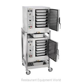 Accutemp S62403D110 DBL Steamer, Convection, Electric, Boilerless, Floor Model