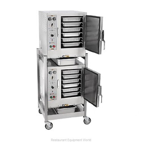 Accutemp S64403D120 DBL Steamer, Convection, Electric, Boilerless, Floor Model