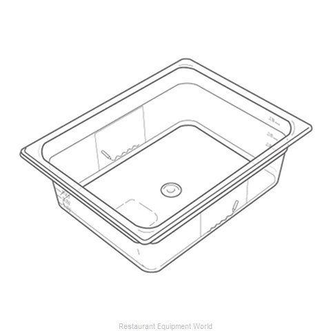 Adcraft 133P Plastic Food Pan