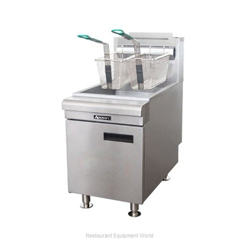 Adcraft CTF-75/LPG Fryer Counter Unit Gas Full Pot