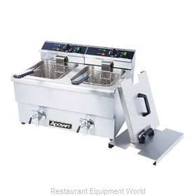 Adcraft DF-12L/2 Fryer Counter Unit Electric Split Pot