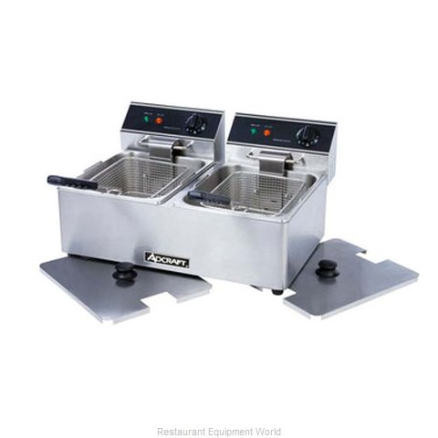 Admiral Craft DF-6L/2 Fryer, Electric, Countertop, Split Pot