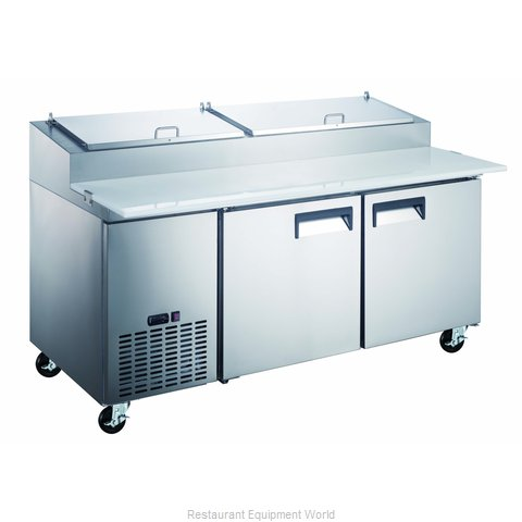 Admiral Craft GRPZ-2D Refrigerated Counter, Pizza Prep Table