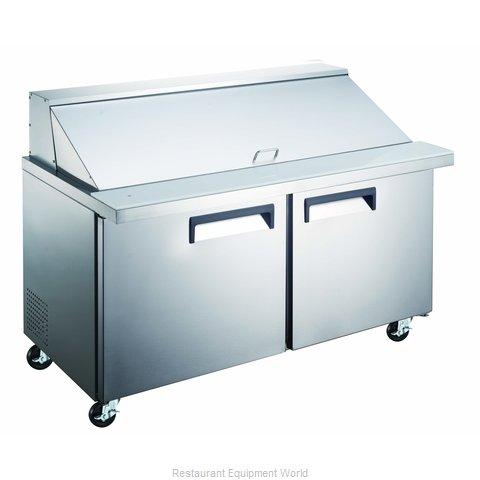 Admiral Craft GRSLM-2D/60 Refrigerated Counter, Mega Top Sandwich / Salad Unit