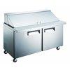 Encimera Refrigerada, Superficie Unidad para Emparedados <br><span class=fgrey12>(Admiral Craft GRSLM-2D/60 Refrigerated Counter, Mega Top Sandwich / Salad Unit)</span>