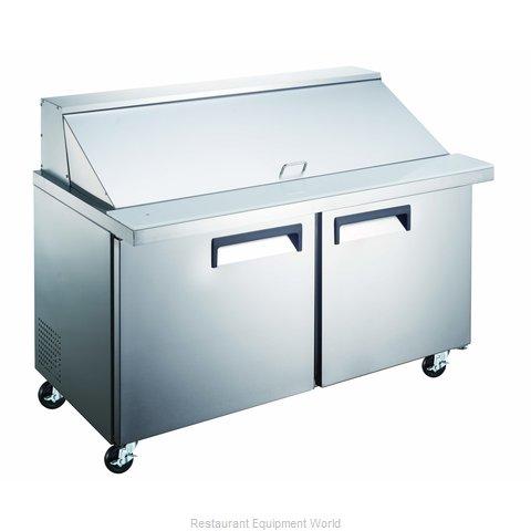 Admiral Craft GRSLM-2D Refrigerated Counter, Mega Top Sandwich / Salad Unit