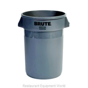Adcraft R-2632GY Trash Garbage Waste Container Stationary