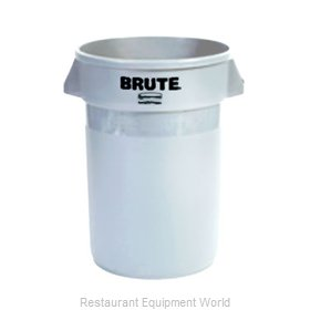 Adcraft R-2632WH Trash Garbage Waste Container Stationary