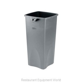 Adcraft R-3569GY Trash Garbage Waste Container Stationary