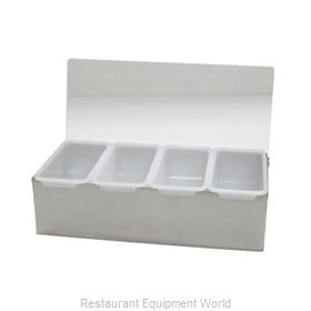 Admiral Craft SSCH-4 Bar Condiment Server, Countertop