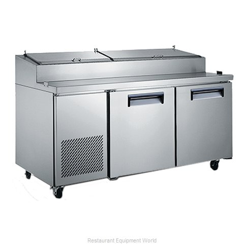 Admiral Craft USPZ-2D Refrigerated Counter, Pizza Prep Table
