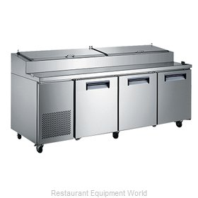 Admiral Craft USPZ-3D Refrigerated Counter, Pizza Prep Table