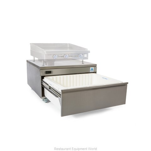 Adande Refrigeration CHEF BASE REAR ENGINE SOLID WORKTOP Refrigerator Freezer, C