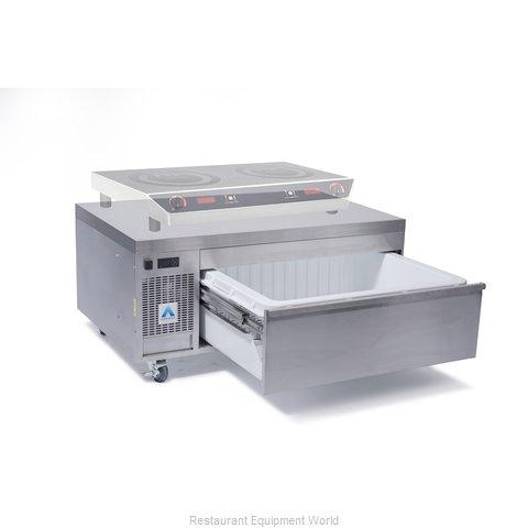 Adande Refrigeration CHEF BASE SIDE ENGINE SOLID WORKTOP Refrigerator Freezer, C