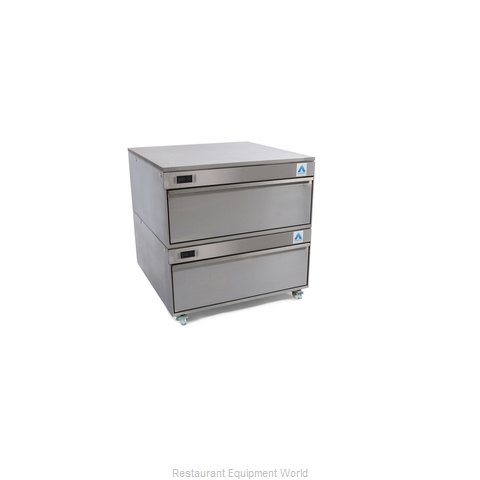 Adande Refrigeration PREP COUNTER TWO DRAWER REAR ENGINE UNIT Refrigerator Freez (Magnified)