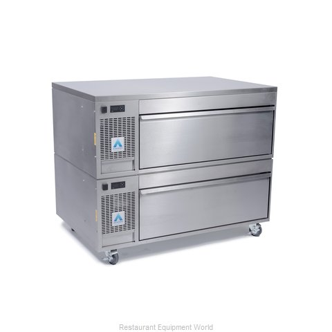 Adande Refrigeration PREP COUNTER TWO DRAWER SIDE ENGINE UNIT Refrigerator Freez (Magnified)