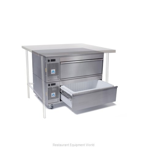 Adande Refrigeration UNDER COUNTER SIDE ENGINE 2 DRAWER UNIT Refrigerator Freeze