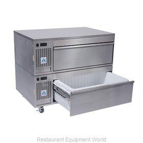 Adande Refrigeration VCS2/CW Refrigerator Freezer, Convertible