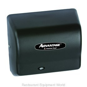 American Dryer AD90-BG Advantage Series Hand Dryer, Steel Black Graphite