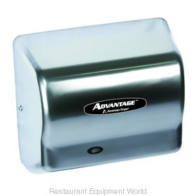American Dryer AD90-C Advantage Series Hand Dryer, Steel Satin Chrome