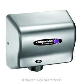 American Dryer CPC9-C Cold Plasma Clean Hand Dryer, Steel Satin Chrome