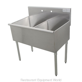 Advance Tabco 4-2-36 Sink, (2) Two Compartment