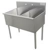 Fregadero, (2) Dos Tarjas/Compartimientos <br><span class=fgrey12>(Advance Tabco 4-2-36 Sink, (2) Two Compartment)</span>