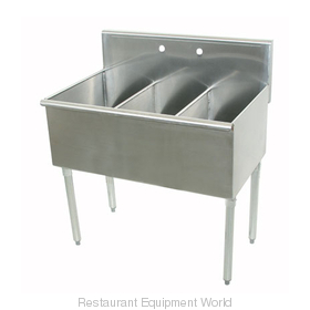 Advance Tabco 4-3-48-2X Sink 3 Three Compartment