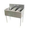 Advance Tabco 4-3-48-X Sink, (3) Three Compartment