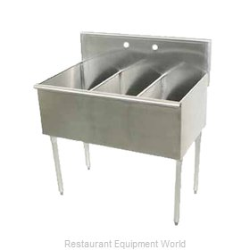 Advance Tabco 4-3-54 Sink, (3) Three Compartment