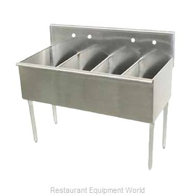 Advance Tabco 4-4-48 Sink, (4) Four Compartment
