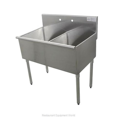 Advance Tabco 6-2-36-2X Sink 2 Two Compartment