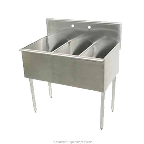 Advance Tabco 6-3-36-1X Sink 3 Three Compartment