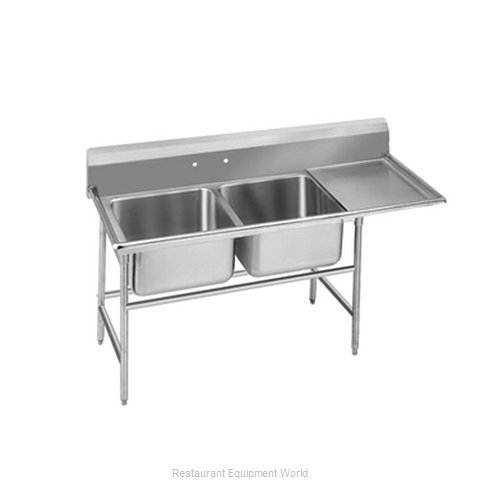 Advance Tabco 9-2-36-18R-X Sink, (2) Two Compartment